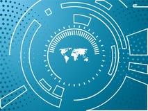 Achtergrond de bedrijfs van de Technologie Stock Afbeelding