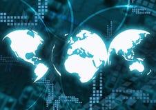 Achtergrond de bedrijfs van de Technologie royalty-vrije illustratie