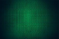 Achtergrond, de Codage of de Hakker van de binaire codehakker de groene stock illustratie