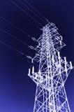 Achtergrond de met hoog voltage van de torenhemel Royalty-vrije Stock Fotografie