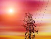 Achtergrond de met hoog voltage van de torenhemel Royalty-vrije Stock Afbeeldingen