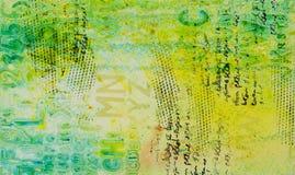 Achtergrond in de techniek om in multikleurentonen scrapbooking Stock Afbeelding