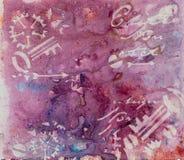 Achtergrond in de techniek om in rode tonen scrapbooking Abstrac Stock Afbeelding