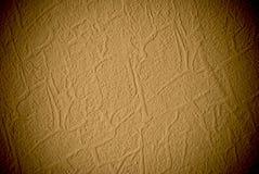 Achtergrond of de textuur van de Grunge de gele korrelmuur royalty-vrije stock fotografie