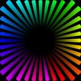 Achtergrond in de vorm van een gekleurde zon met stralen stock illustratie