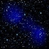Achtergrond in de vorm van een sterrige hemel. stock illustratie