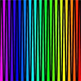 Achtergrond in de vorm van gekleurde verticale strepen op een zwarte royalty-vrije illustratie