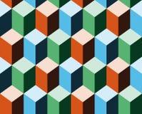 Achtergrond die 3d kubussen imiteert stock illustratie