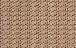Achtergrond die een metaalnet, op een beige patroon imiteren stock illustratie