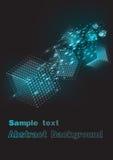 Achtergrond die gekleurde kubussen in ruimte vliegen Vector illustratie Vector Illustratie