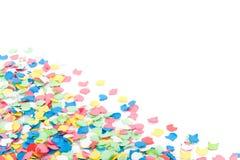 Achtergrond die met confettis wordt gemaakt Stock Afbeeldingen