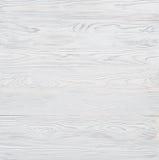 Achtergrond die uit houten horizontale die planken bestaan met witte verf worden gekleurd Stock Afbeelding