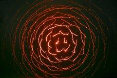 Achtergrond die van een rood laserlicht wordt geproduceerd Royalty-vrije Stock Foto