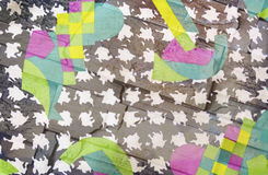 Achtergrond: een abstracte patroon en een bakstenen muur, dubbele blootstelling Royalty-vrije Stock Afbeeldingen