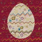 Achtergrond en Ei met een vrolijk abstract patroon Royalty-vrije Stock Afbeelding