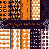 Achtergrond en patroon voor Halloween-seizoen Stock Afbeelding