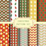 Achtergrond en patroon voor Kerstmisseizoen Stock Afbeelding