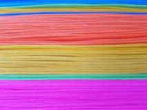 achtergrond en textuur, kleuren op gestapelde bladen van document royalty-vrije stock foto