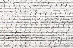 Achtergrond en textuur van witte bakstenen muur royalty-vrije stock afbeeldingen