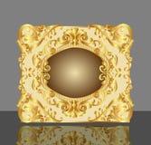Achtergrond frame met goud (en) stock illustratie