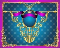 Achtergrond frame met goud (en) en netto Royalty-vrije Stock Foto