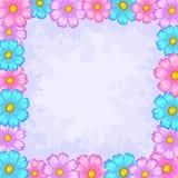 Achtergrond, frame van bloemen Stock Afbeelding