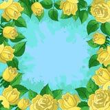 Achtergrond, frame van bloemen Royalty-vrije Stock Afbeeldingen