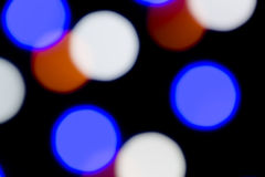 Achtergrond: Gekleurde Leds Bokeh Stock Foto
