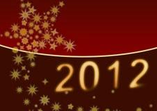 Achtergrond: Gelukkig Nieuwjaar 2012 Stock Foto's