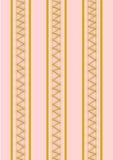 Achtergrond gouden zigzagpatroon op roze Stock Afbeeldingen