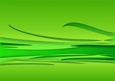 Achtergrond - groene golven stock illustratie