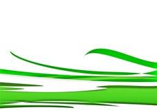Achtergrond - groene golven royalty-vrije illustratie