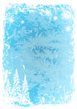 Achtergrond grunge blauw ijspatroon Vector illustratie Stock Illustratie