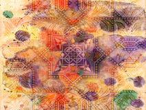 Achtergrond - Grunge - Bloemen Stock Afbeelding