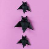 Achtergrond Halloween-origamiknuppels Hoogste mening met exemplaarruimte Royalty-vrije Stock Foto