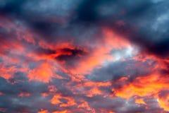 Achtergrond hemel bij schemer Stock Afbeeldingen