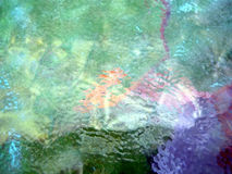 Achtergrond, het kleurrijke abstracte schilderen op glas Royalty-vrije Stock Foto's