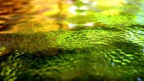 Achtergrond, het kleurrijke abstracte schilderen op glas Royalty-vrije Stock Fotografie