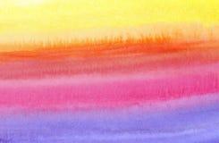 Achtergrond - het kleurrijke waterverf schilderen Stock Afbeeldingen