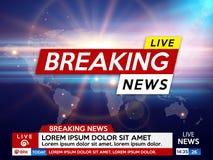 Achtergrond het schermspaarder bij het breken van nieuws stock illustratie