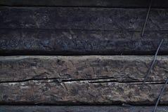 Achtergrond, Houten Dwarsbalken Stock Foto