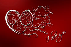 Achtergrond I van de Dag van valentijnskaarten houdt van u Royalty-vrije Stock Foto's