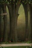 Achtergrond of illustratie aan een feeverhaal. Stock Fotografie