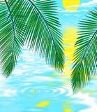 Achtergrond illustratie van strand Stock Afbeeldingen