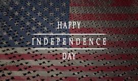 Achtergrond, kaart nationale vlag van de dag van de de Inschrijvings Gelukkige onafhankelijkheid van de Verenigde Staten van Amer royalty-vrije stock foto's