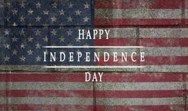 Achtergrond, kaart nationale vlag van de dag van de de Inschrijvings Gelukkige onafhankelijkheid van de Verenigde Staten van Amer stock afbeelding