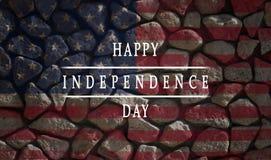 Achtergrond, kaart nationale vlag van de dag van de de Inschrijvings Gelukkige onafhankelijkheid van de Verenigde Staten van Amer stock afbeeldingen