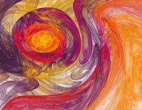Achtergrond in kastanjebruine en oranje kleuren Royalty-vrije Stock Foto