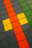 Achtergrond kleurenvierkanten Stock Foto's