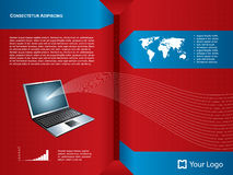 Achtergrond laptop Royalty-vrije Stock Foto's